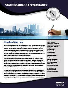 Newsletter Guide | NASBA