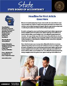 Newsletter Guide NASBA - Newsletter article template