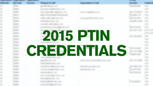[Stuff for Staff] 2015 PTIN Credential Data Sent to Boards of Accountancy