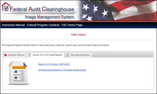Fed Audit Clearinghouse