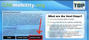 Mobility Details button snip